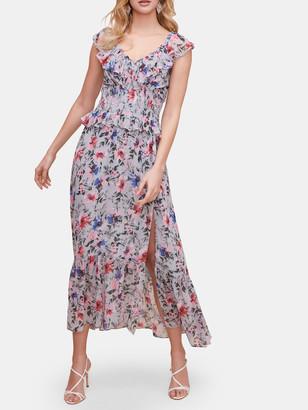 ASTR the Label Double V-Neck Flutter Midi Dress