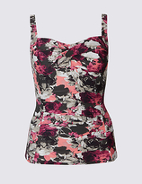 M&S Collection Floral Print Twisted Tankini Top