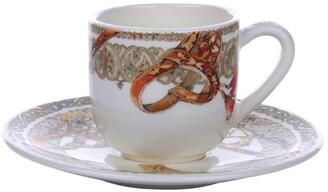 Gien Chevaux Du Vent Espresso Cup And Saucer