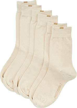 Nur Die Women's Damen Passt Perfekt Socken 3er, 487819 Socks, 100 DEN, Brown (Braun 650), (Pack of 3