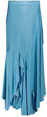 MM6 MAISON MARGIELA Striped asymmetric midi skirt