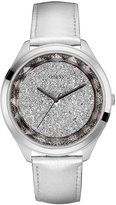 GUESS Silver-Tone Sparkling Oversized Reflections Watch