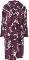 Wine Floral Hooded Dressing Gown