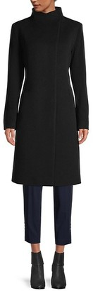 Cinzia Rocca Virgin Wool Cashmere A-Line Coat