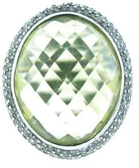 David Yurman Prasiolite and Diamond Ring