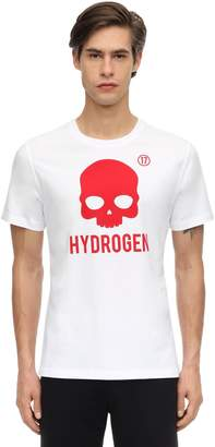 Hydrogen ICON SKULL COTTON JERSEY T-SHIRT