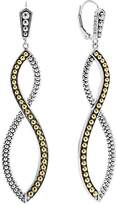 Lagos Sterling Silver Drop Earrings with 18K Gold Caviar Beading