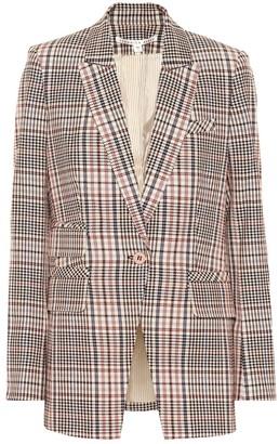 Veronica Beard Fuller plaid stretch cotton blazer