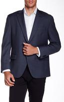 Peter Millar Flynn Blue Check Classic Fit Wool Sport Coat