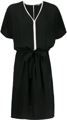 Karl Lagerfeld Paris Tie-Fastening Silk Dress