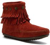 Minnetonka Women's Double Fringe Side Zip Boot - Limited Edition