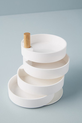 Anthropologie Tiered Jewelry Storage By in Gold