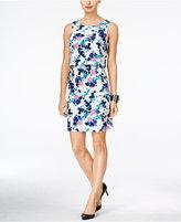 Ivanka Trump Floral-Print Popover Sheath Dress