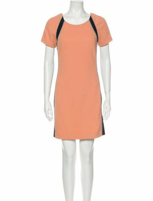 Jonathan Simkhai Colorblock Pattern Mini Dress Orange