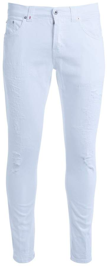 Dondup Don Dup Mius White Ripped Jeans