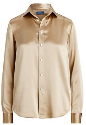 Ralph Lauren Silk Charmeuse Shirt