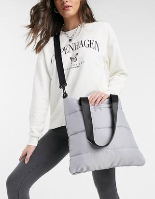 SVNX puffer oversized tote bag in black