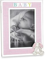 Reed & Barton Gingham Bunny 4-Inch x 6-Inch Picture Frame
