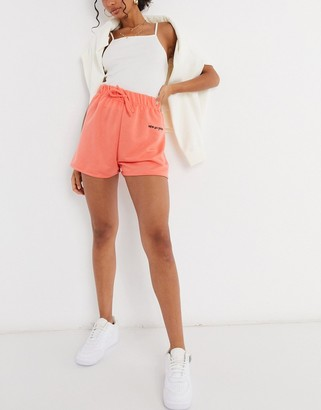 New Girl Order set high waisted track shorts