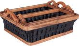 Household Essentials Wicker Basket Tray Set