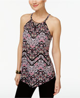 INC International Concepts Petite Printed Hardware Halter Top, Only at Macy's