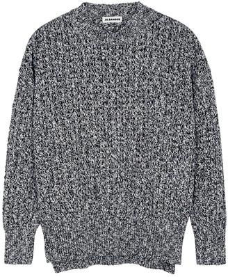 Jil Sander Navy Chunky-knit Cotton Jumper