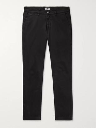 NN07 Black Marco Slim-Fit Cotton-Blend Twill Chinos
