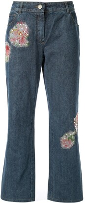 Christian Dior Pre-Owned patch-embellished jeans