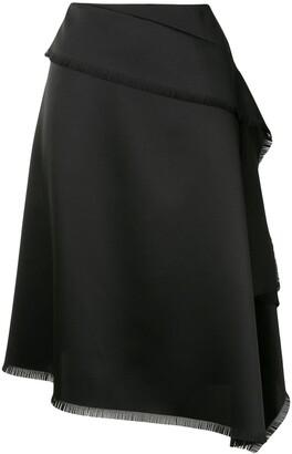 Cédric Charlier Asymmetric Draped Skirt