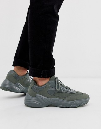 Asos Design DESIGN sneakers in gray with chunky sole