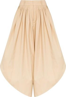Chloé High-Rise Curved-Leg Culottes