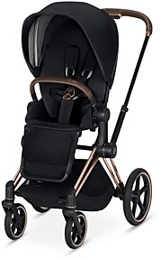 CYBEX Priam 3-in-1 Stroller System with Rosegold Frame + Premium Black Seat