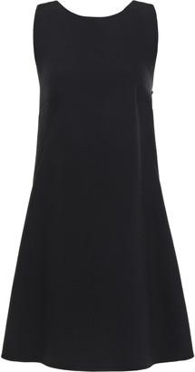 Dolce & Gabbana Pleated Embellished Wool-blend Crepe Mini Dress