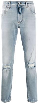 Dolce & Gabbana rip detail jeans