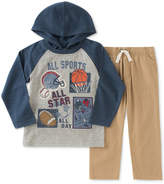 Kids Headquarters 2-Pc Sports Graphic-Print Hooded Shirt & Pants Set, Toddler & Little Boys (2T-7)