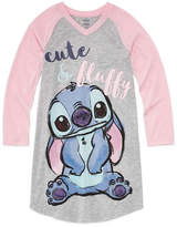 Disney Long Sleeve Lilo & Stitch Nightshirt-Big Kid Girls
