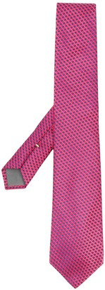 Canali Geometric-Pattern Silk Tie