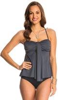 Fit 4 U Fit4U Swimwear Luxury Solids Waterfall Bandeau Tankini Top 8125124