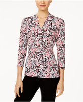 Charter Club Printed Crossover Top, Created for Macy's