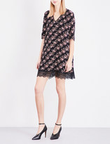 Claudie Pierlot Real floral-print crepe mini dress