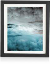 DENY Designs Caleb Troy Glacier Painted Clouds Framed Wall Art, 14 x 16.5