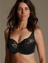 Marks and Spencer Floral Jacquard Lace Underwired Full Cup Bra A-H