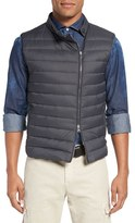 Eleventy Men's Water Resistant Asymmetrical Zip Vest