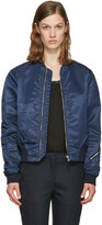 Rag & Bone Navy Nylon Morton Bomber Jacket