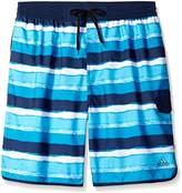 adidas Men's Big & Tall Water Stripe Volley Swim Trunk