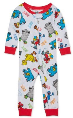 Sesame Street Baby Boys 1-Piece Snug Fit Cotton Footless Pajamas (12M-24M)