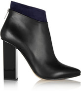 Jimmy Choo Legion suede-trimmed leather ankle boots