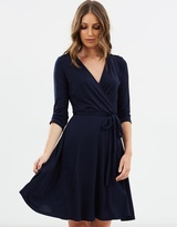 Wallis Plain Wrap Fit-and-Flare Dress