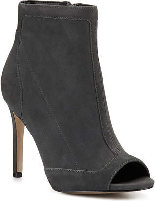 Charles David Courter Stretch Suede Peep-Toe Pumps