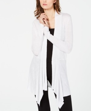 INC International Concepts Inc Ribbed-Knit Draped Cardigan, Created for Macy's
